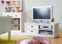 Nova solo - TV-meubel Wittevilla 120cm wit met lades en open vakken sfeer