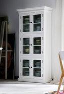 Nova solo Vitrinekast Wittevilla wit 6 deuren glas sfeer