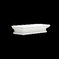 Nova solo - Muurplank Wittevilla wit hout losse plank 60cm zijaanzicht