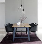 Meubelen-Online - Eethoek Eiman 220cm met 6 stoelen Bogart compleet