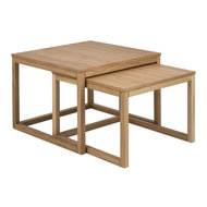 Pit-Art collectie - Salontafel Bakoe set 2 tafels naturel hout