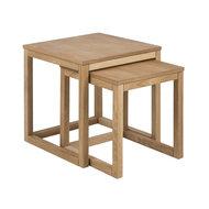 Pit-Art collectie - Bijzettafel Bakoe set 2 tafels naturel hout