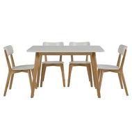 Meubelen-Online - Eethoek Basic rechthoekig compleet met 4 stoelen
